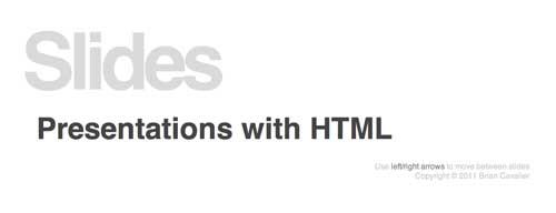 Herramienta basada en codigo HTML para presentación de diapositivas: Slides