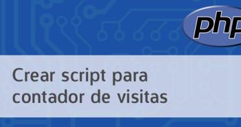 Crear script PHP para contador de visitas
