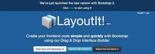 Editor WYSIWYG para Bootstrap: LayoutIt!
