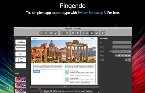 Editor WYSIWYG para Bootstrap: Pingendo
