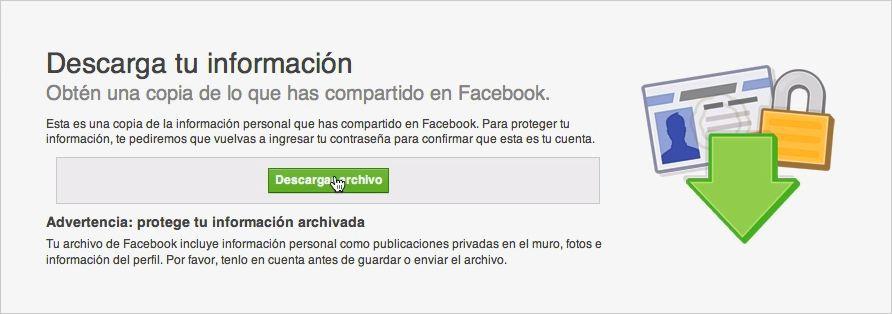 Facebook - Descargar Archivo