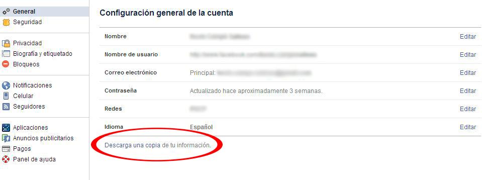 Facebook - Sección General