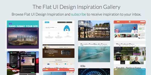 Galería con las mejores paginas web: FlatUI Design