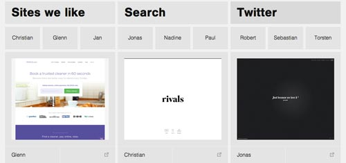 Galería con las mejores paginas web:  Sites We Like