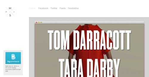 Galería con las mejores paginas web:  Websites We Love