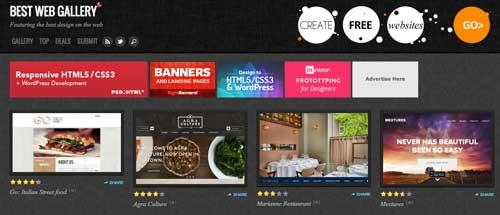 Galería con las mejores paginas web adaptativas: Best Web Gallery
