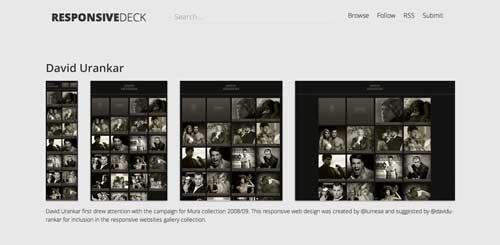 Galería con las mejores paginas web adaptativas: Responsive Deck Gallery