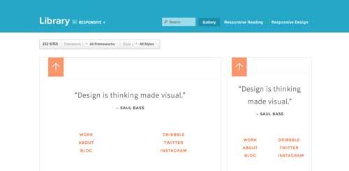 Galería con las mejores paginas web adaptativas: Zurb Responsive