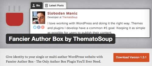 Plugin WordPress para incluir biografía de autor: Fancier Author Box