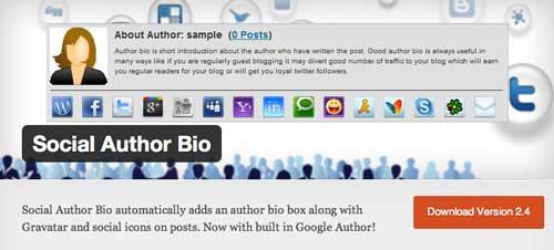 Plugin WordPress para incluir biografía de autor: Social Author Bio