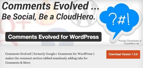 Plugin WordPress para mejorar sistema de comentarios: Comments Evolved