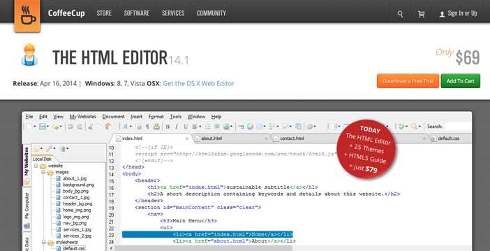 Útiles programas para Windows para desarrolladores web: CoffeeCup