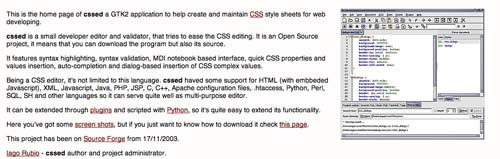 Útiles programas para Windows para desarrolladores web: CSSed
