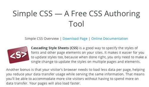 Útiles programas para Windows para desarrolladores web: Simple CSS