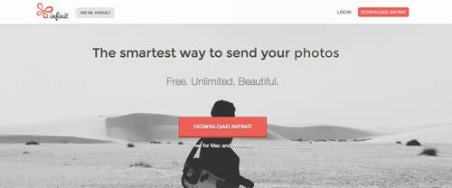 Servicio para enviar archivos pesados: Infinit