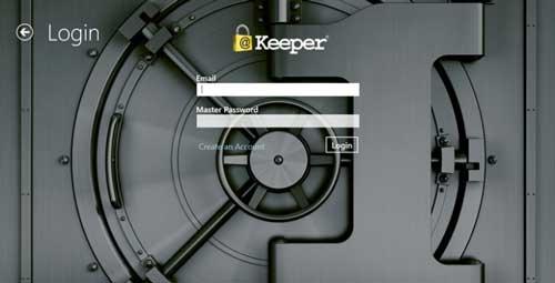 Aplicaciones para Windows 8.1 para proteger tus datos online: Keeper