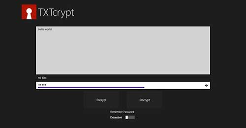 Aplicaciones para Windows 8.1 para proteger tus datos online: TXTcrypt