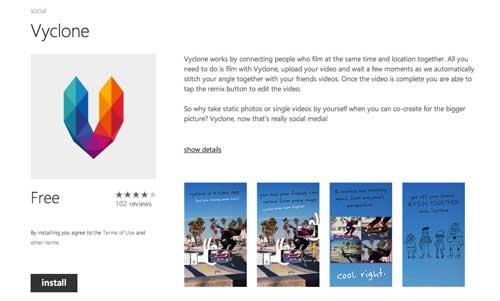Aplicaciones para Windows Phone: Vyclone