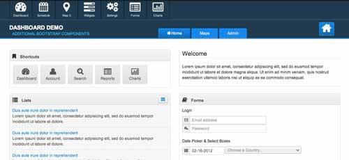 Bootstrap theme para panel de administración: Clean Dashboard
