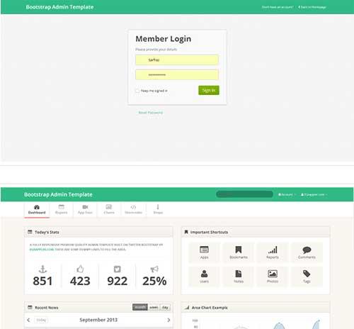 Bootstrap theme para panel de administración: TemplateVamp