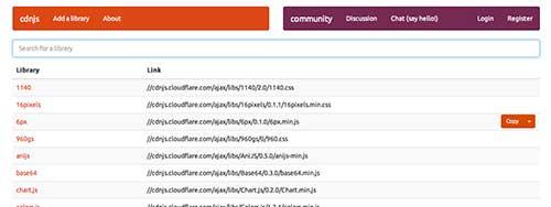 Listado de Content Delivery Network públicas: cdnjs
