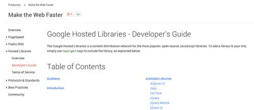 Listado de Content Delivery Network públicas: Google Hosted Libraries