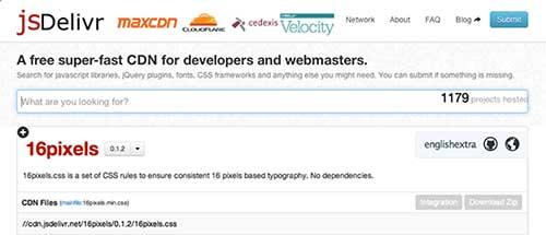 Listado de Content Delivery Network públicas: JSDelivr