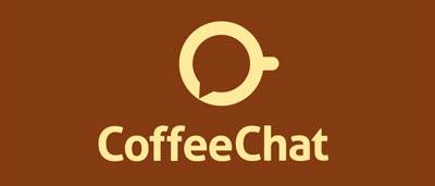 Ejemplos de diseño de logos para chat: CoffeeChat