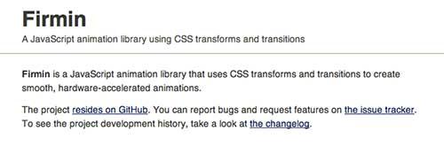 Librerías de Javascript plugin para añadir animaciones: Firmin