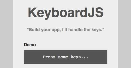 Librería JavaScript plugin para implementar atajos de teclado: KeyboardJS