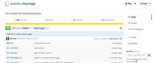 Librería JavaScript plugin para implementar atajos de teclado: Keymage