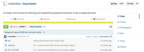 Librería JavaScript plugin para implementar atajos de teclado: Keymaster