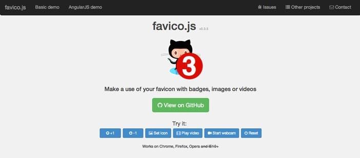 Javascript plugin para manipular imágenes: Favico.js