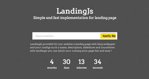 Javascript plugin para manipular imágenes: Landing.js