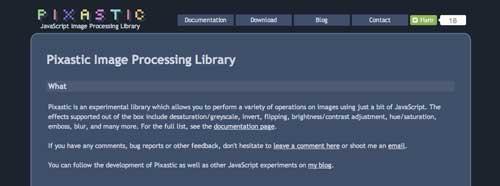 Javascript plugin para manipular imágenes: Pixastic