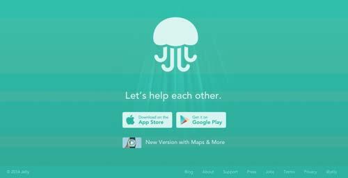 Las mejores paginas web con uso de color verde: Jelly