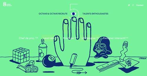 Las mejores paginas web con uso de color verde: Octave & Octave