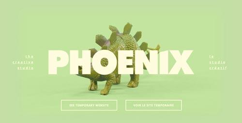 Las mejores paginas web con uso de color verde:  Phoenix