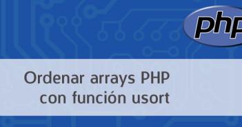 Ordenar arrays PHP con función usort