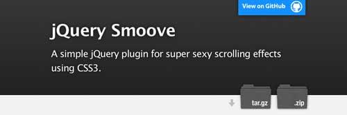 Plugin JQuery para añadir efectos CSS3: JQuery Smoove