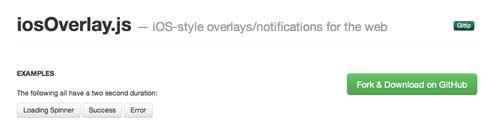 Plugin JQuery para implementar notificaciones: iOSOverlay.js