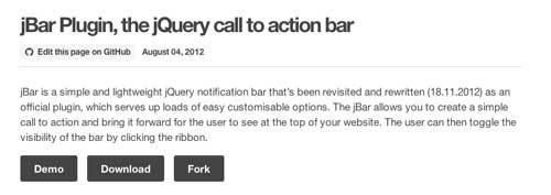 Plugin JQuery para implementar notificaciones: Jbar
