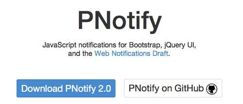 Plugin JQuery para implementar notificaciones: PNotify