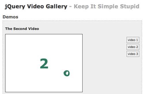 Plugin JQuery para video: JQuery Video Gallery
