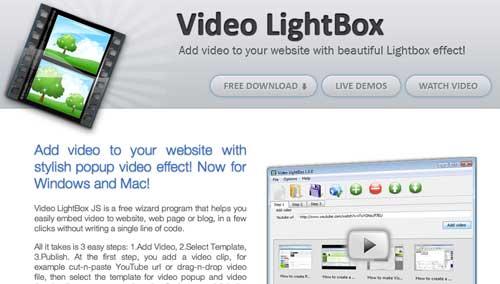 Plugin JQuery para video: Video Lightbox