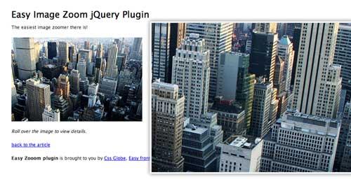 Plugin JQuery para añadir zoom: Easy Image Zoom