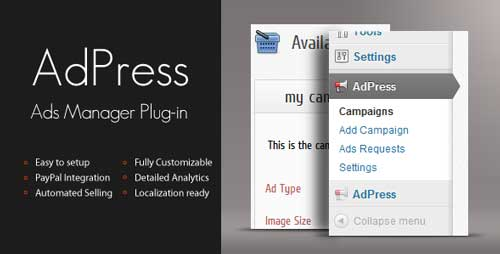 Plugin WordPress para administrar anuncios publicitarios: AdPress