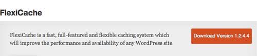 Plugin WordPress para almacenamiento de memoria caché: FlexiCache