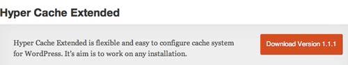 Plugin WordPress para almacenamiento de memoria caché: Hyper Cache Extended