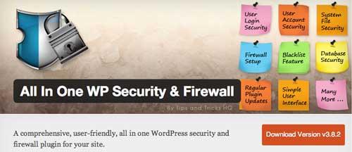Plugin WordPress para reforzar seguridad: All in One WP Security & Firewall